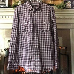 EUC Michael Kors plaid men's button shirt